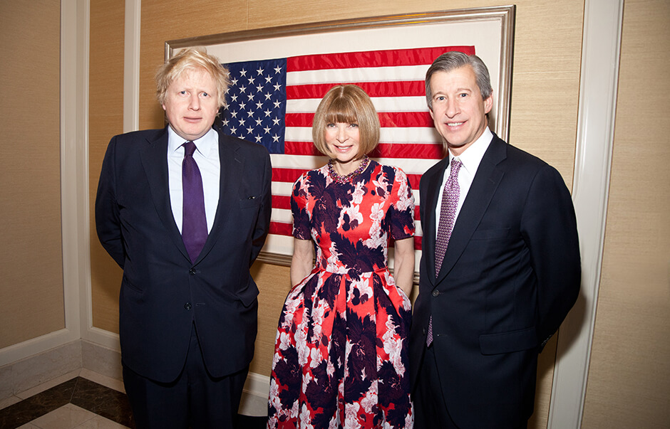 Boris Johnson (Mayor of London), Anna Wintour (Vogue) and Tom King (CEO Barclays Investment Bank)